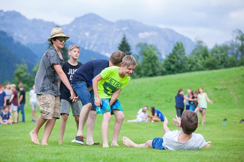 salzburgerhof sommersportwoche teamarbeit